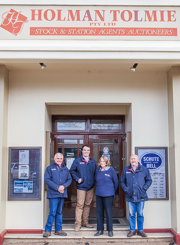 Holman Tolmie Team outside office in Cootamundra